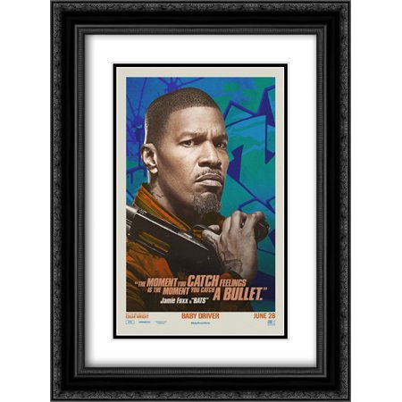 Baby Driver 18X24 Double Matted Black Ornate Framed Movie Poster Art Print