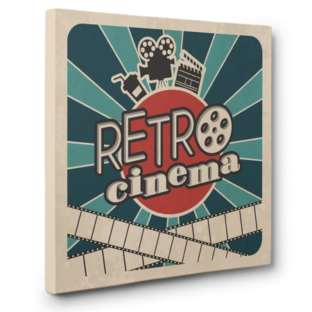 Retro Cinema Theater Movie Room Wall Art CANVAS - Movie Theater Wall Decor