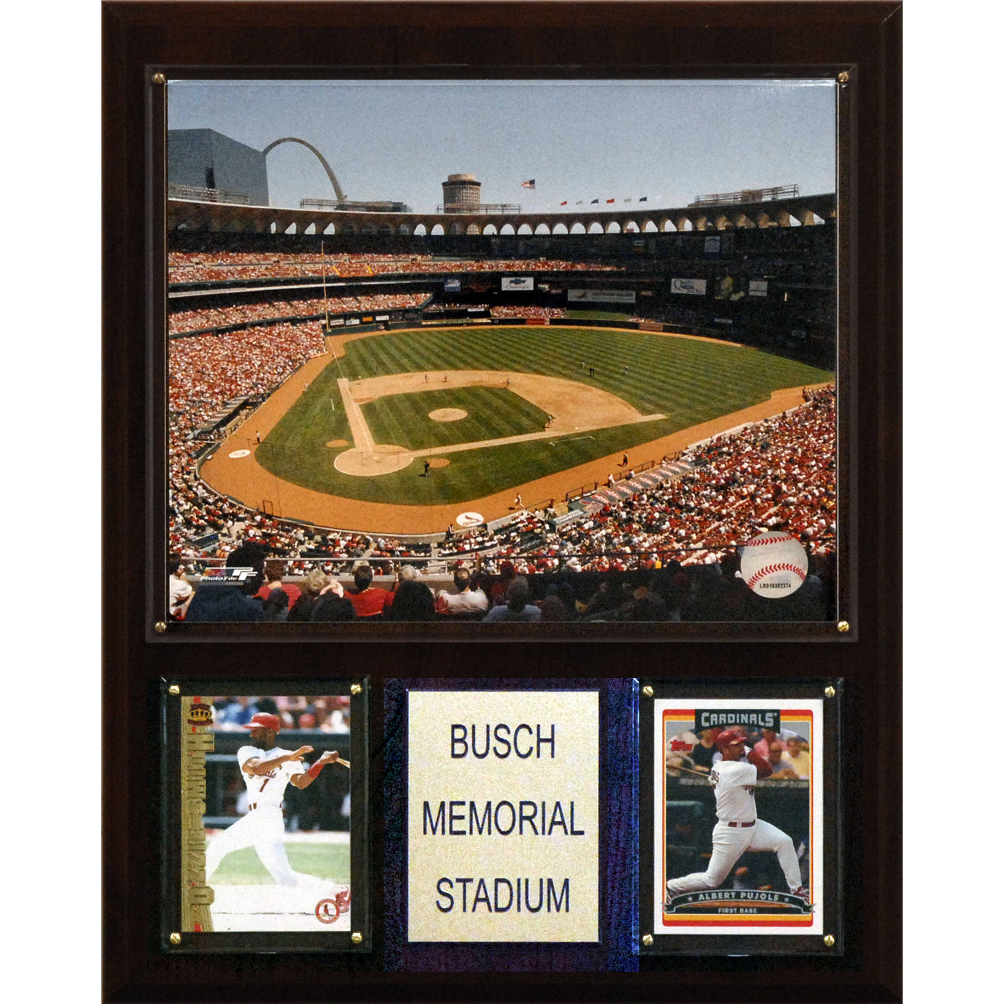 C&I Collectables MLB 12x15 Busch Memorial Stadium Stadium Plaque
