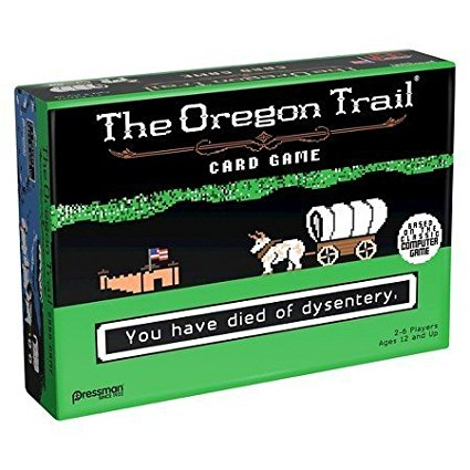 The Oregon Trail Card Game , Players work together to move along the trail, fording rivers and playing Supply... by