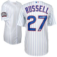 Addison Russell Chicago Cubs Fanatics Authentic 2016 MLB World Series Champions Autographed Majestic White Replica World Series Jersey - No Size