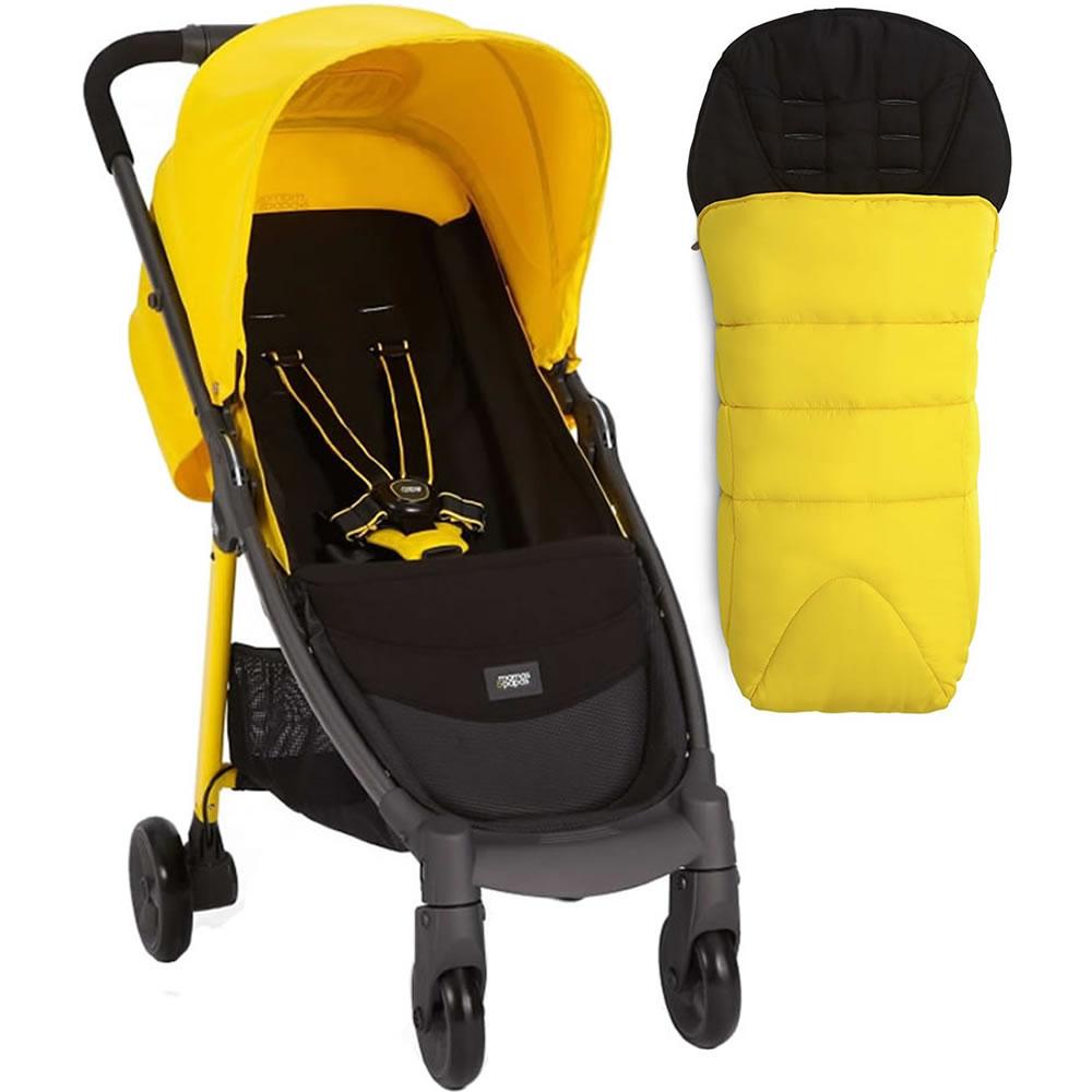 Mamas & Papas Armadillo City Stroller With Footmuff, Lemon Drop