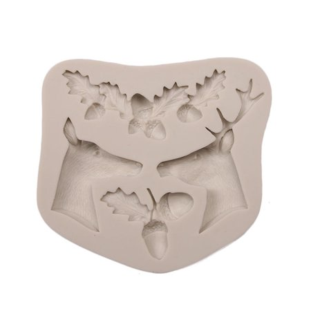 3D Christmas Theme Silicone Fondant Mold Cake Cookie Chocolate Dry Perth Sugar Coated Printing Decoration Molds Kitchen Baking DIY - Christmas Cake Molds
