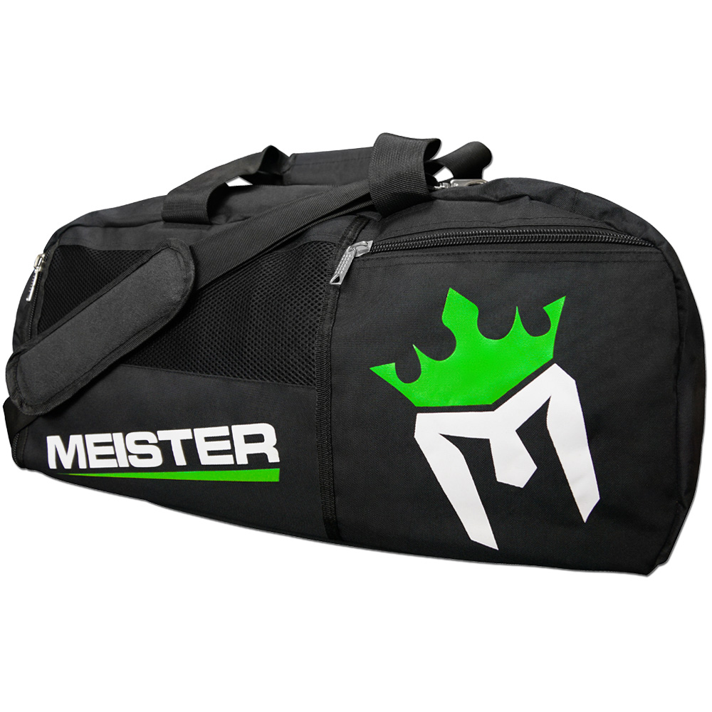 Meister Gym Bag Vented Convertible Backpack Duffel - Black