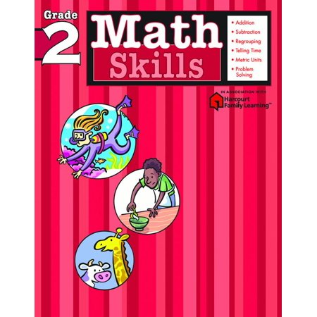 Math Skills: Grade 2 (Flash Kids Harcourt Family Learning)
