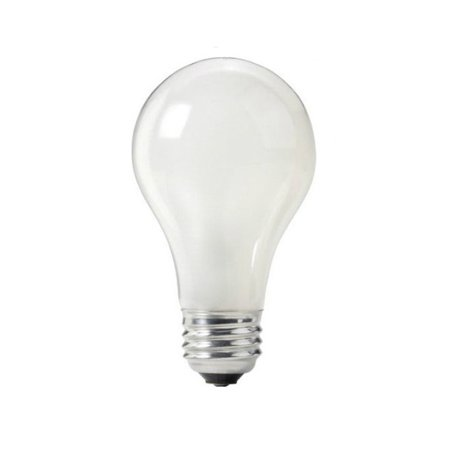 2 pk sylvania 60w 120v a shape rough service frosted light bulb