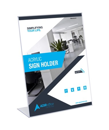 Acrlylic Sign Holder 8.511 36 Pack by Adir Corp.