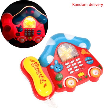 Children Kids Mini Colorful Electric Music Telephone Sounds Toys Gift Random (Gift Sets Top)