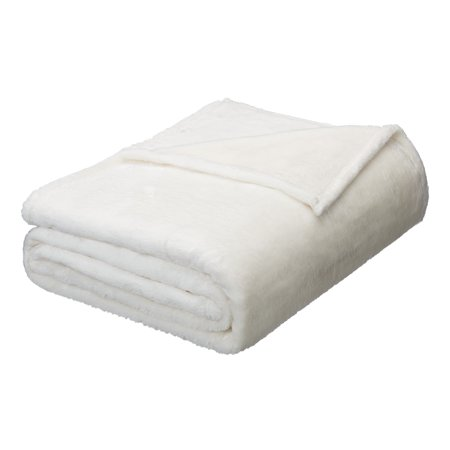Better Homes & Gardens Luxe Plush Blanket, Full/Queen Vanilla Dream