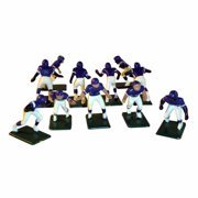 Electric Football 11 Regular Size Players in Purple Yellow Home Uniform