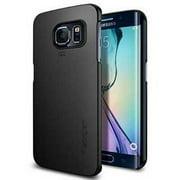 Galaxy S6 Edge Case, Spigen [Thin Fit] Exact-Fit [Smooth Black] Premium Matte Finish Hard Case for Galaxy S6 Edge  - Smooth Blac