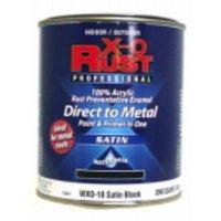 WXO18 X-O Rust QT Satin Black Water Base Interior/Exterior Anti Rust E