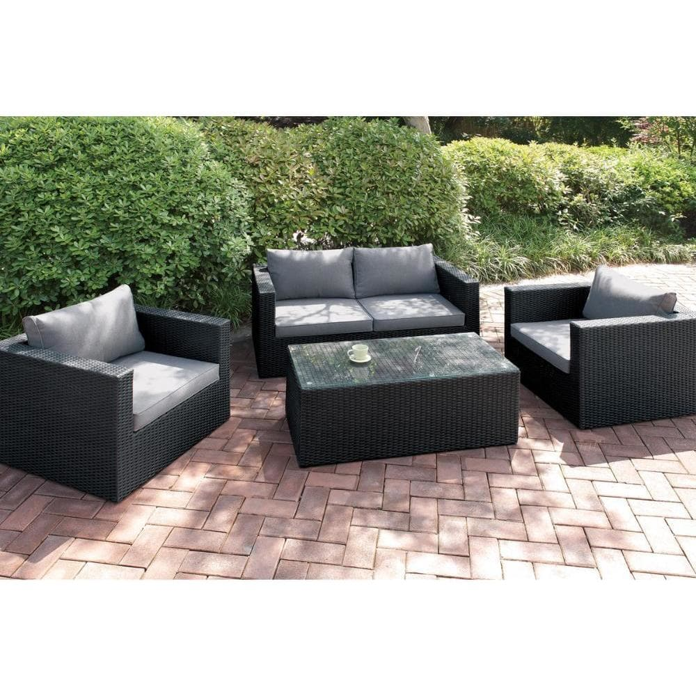 CDecor Bolinas Friends Dark Brown/ Tan 4-piece Patio Set