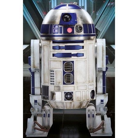Star Wars: Episode VII - The Force Awakens - Movie Poster / Print (R2D2) (Size: 24