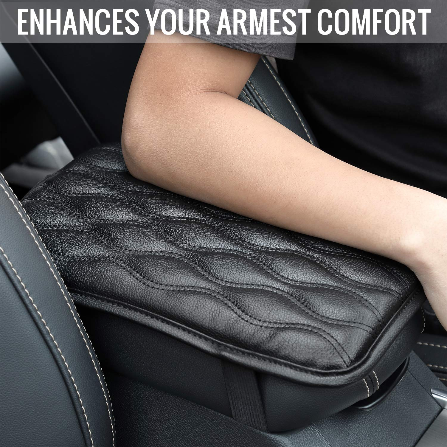 Truck Universal Car Armrest Seat Box Cover Protector Waterproof Car Armrest Cover for Most Vehicle FUNINDIY Auto Center Console Pad SUV