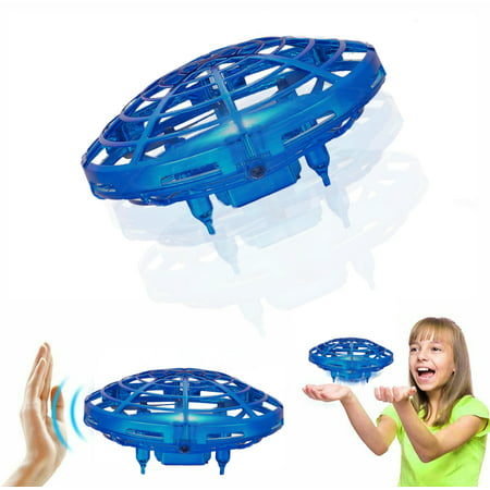 Hand Control Anti-Collision, Gravity Defying Flying Mini Drone UFO Ball Aircraft Toy with LED Light for Boys and Girls