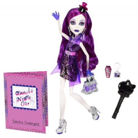 Mattel 2013 Monster High Ghouls Night Out Spectra Vondergeist Doll (Monster High Ghouls Night Out 4 Pack)