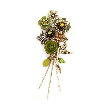 (TAZZA WOMEN'S GOLD BIRD BUTTERFLY AND FLOWER BROOCHES PINS & ACCS.)
