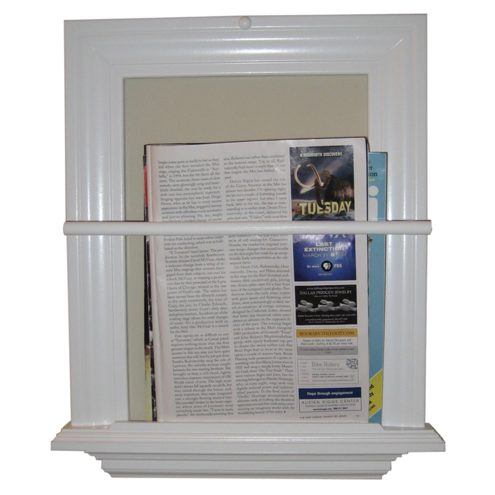 WG Wood Surface Mount Magazine Rack by WG Wood Products LLC