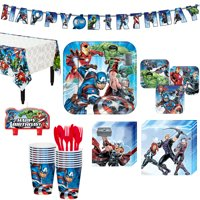 Avengers Superhero Birthday Party Kit, Includes Happy Birthday Banner, Serves 16