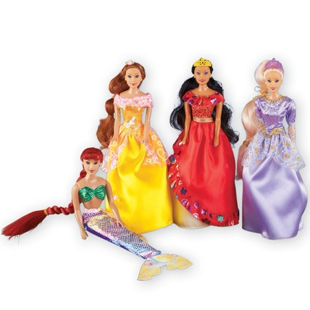 - Girls Fairy Tale Princess Collection Set of 4 Dolls