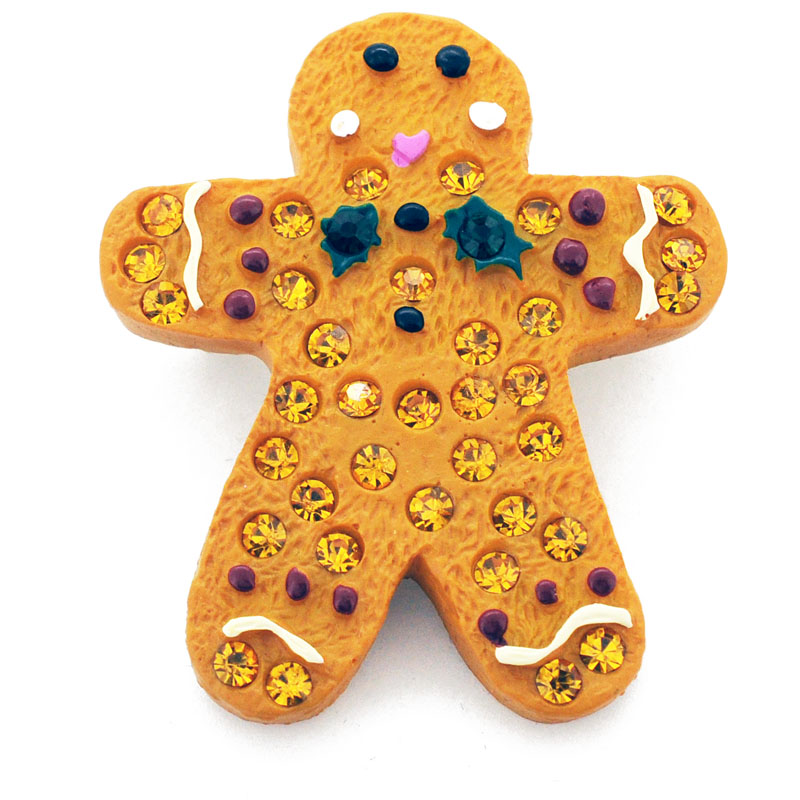 Topaz Gingerbread Man Christmas Pin Christmas Brooch Pin by