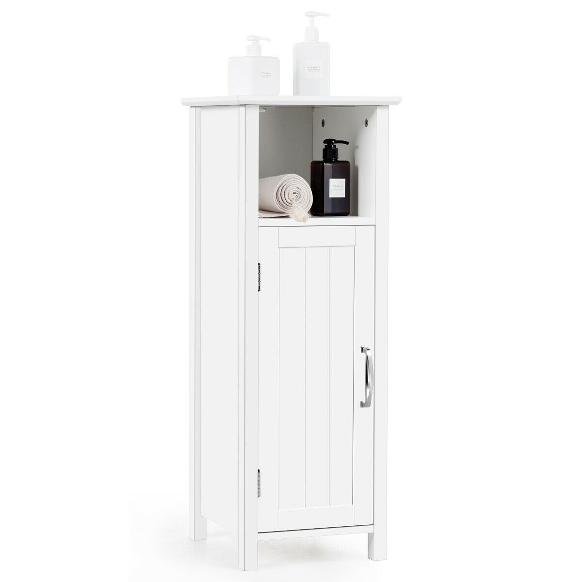 Gymax Bathroom Floor Storage Cabinet, Bathroom Floor Storage Cabinets