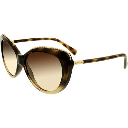 ddb7b7b0459ce Coach - Women s Gradient HC8157-533813-56 Tortoiseshell Cat Eye Sunglasses  - Walmart.com