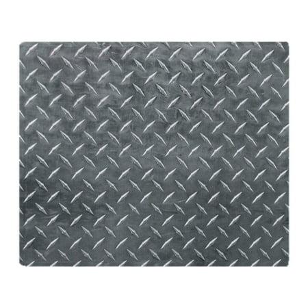 "CafePress - Gray Diamond Plate Pattern - Soft Fleece Throw Blanket, 50""x60"" Stadium Blanket"