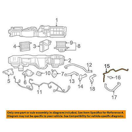 Evaporator Pipe - CHRYSLER OEM Evaporator Heater-Water Pipe 4596467AB
