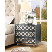 Inspired Home Everlyn 3 Drawer Nightstand