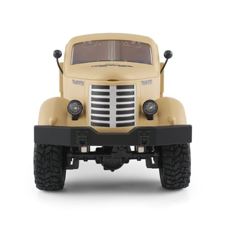 JJRC Q60 1:16 2.4G 2CH 6WD Remote Control Tracked Off-Road Military Truck RC Car RTR  Brush motor Birthday Gifts - image 9 de 12