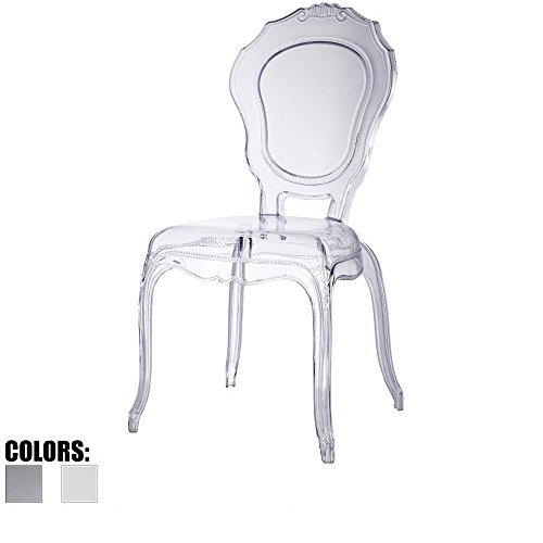 2xhome   Clear   Belle Style Ghost Chair Ghost Side Chair Dining Room Chair    Clear