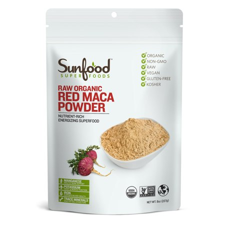 Sunfood Superfoods Organic Red Maca Powder, 8.0 Oz