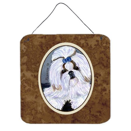Carolines Treasures SS8685DS66 Shih Tzu Aluminium Metal Wall Or Door Hanging Prints - image 1 de 1