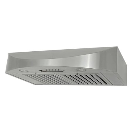KOBE CHX3830SQB-2 Brillia 30-inch Under Cabinet Range Hood, 3-Speed, 650 CFM, LED Lights, Baffle