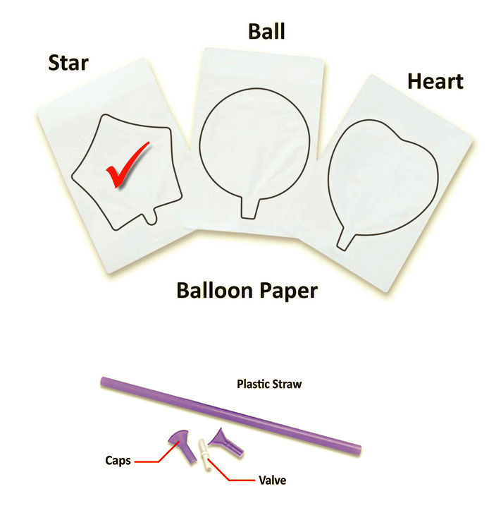 graphic regarding Printable Balloons known as InkFlatables A3 Dimensions Printable Balloon Star