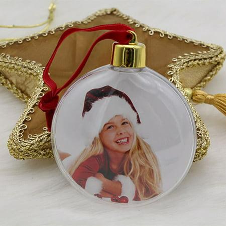 DIY Christmas Mini Photo Frame Tree Pendant Hanging Ornament Decor Xmas Gift Pendant Tree Frame