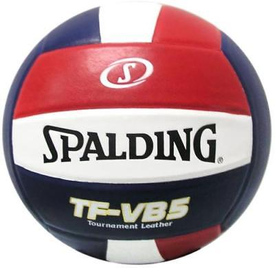 Spalding TF-VB5 NFHS Leather Volleyball, Red/White/Blue