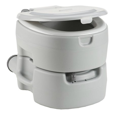 Coleman Large Portable Flush Toilet Compartment for Chemical Storage w/ Easy Waste (Flushing Stores)