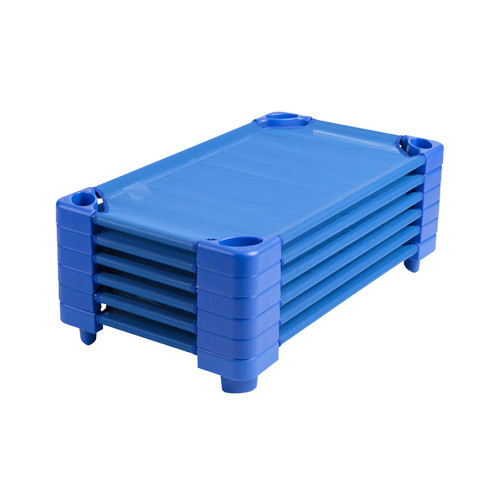 Click here to buy Stackable Kiddie Cot Standard Ready-to-Assemble Blue by ECR4Kids.