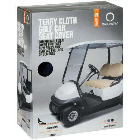 Classic Terry Cloth Golf Cart Seat Saver Black