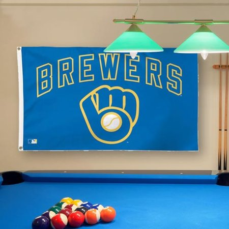 Milwaukee Brewers WinCraft Deluxe 3' x 5' Flag  - - No Size