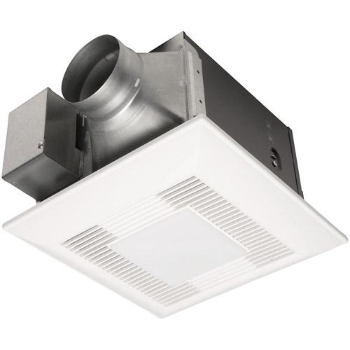Panasonic WhisperGreenLite, Bathroom Fan-Light 80 CFM fan with DC Motor, built-in controls, 0, 30~70 CFM variable, <0.3 sone  APPA08VKSL3