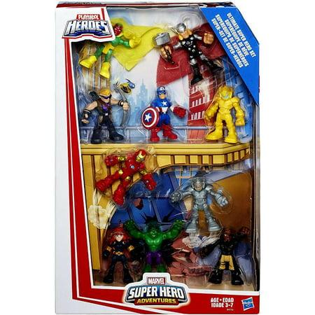 Marvel Super Hero Adventures Ultimate Super Hero Action Figure 10-Pack