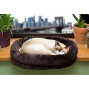 Furhaven 95100 Tiger Tough Window Perch Chocolate Plush