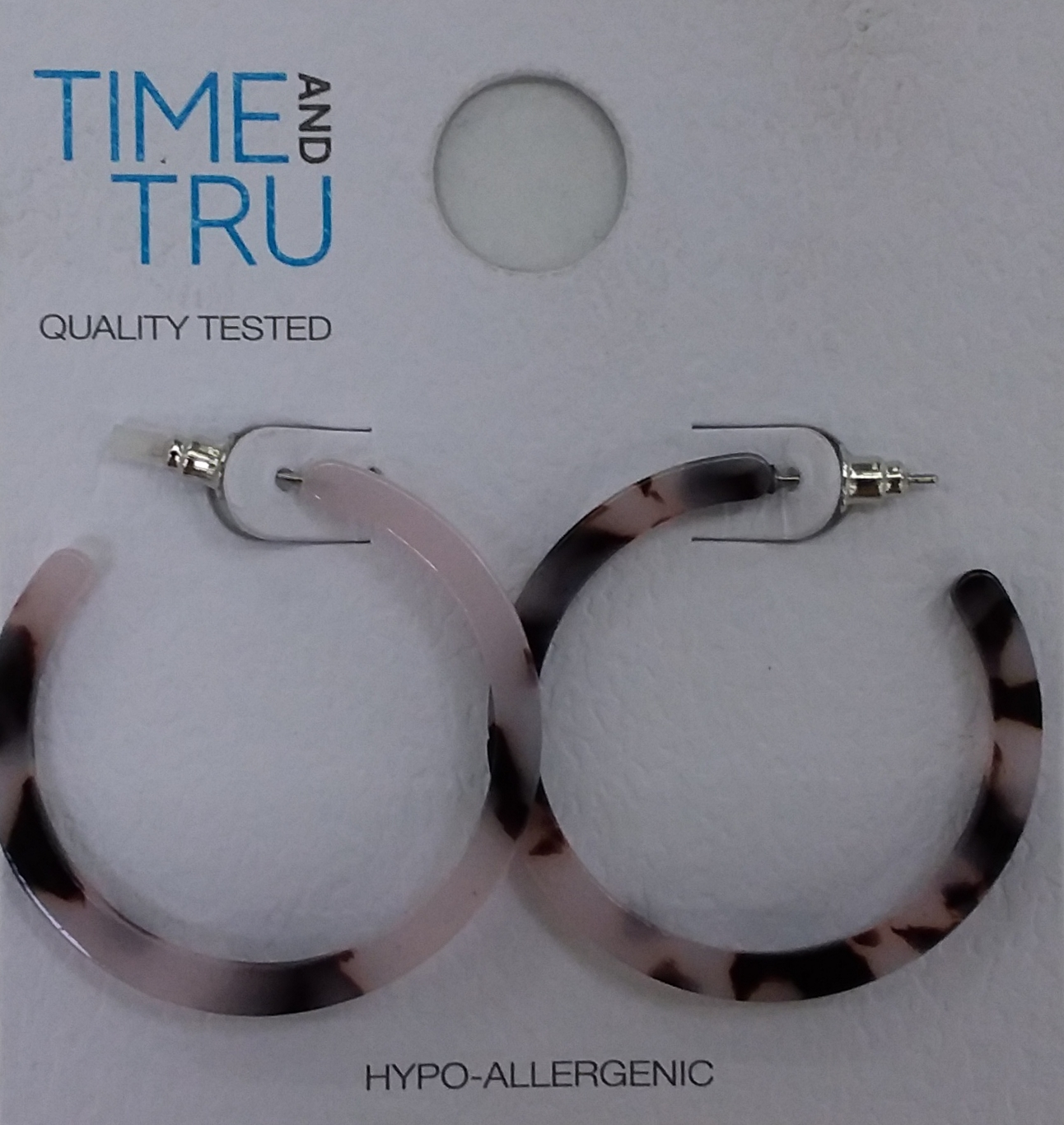 Time And Tru Thin Resin Hoops