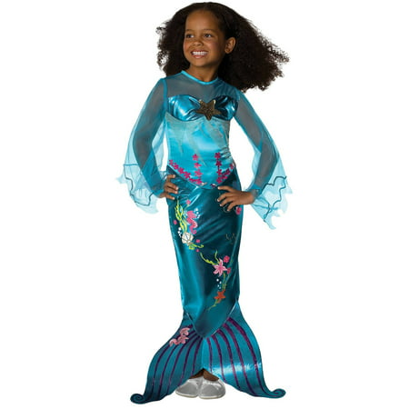 Magical mermaid toddler halloween costume, 3t-4t S (4-6) (Magical Costume)