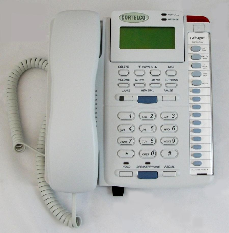 Cortelco 2200FROST 220021-TP2-27E Colleague w/ CID - Frost