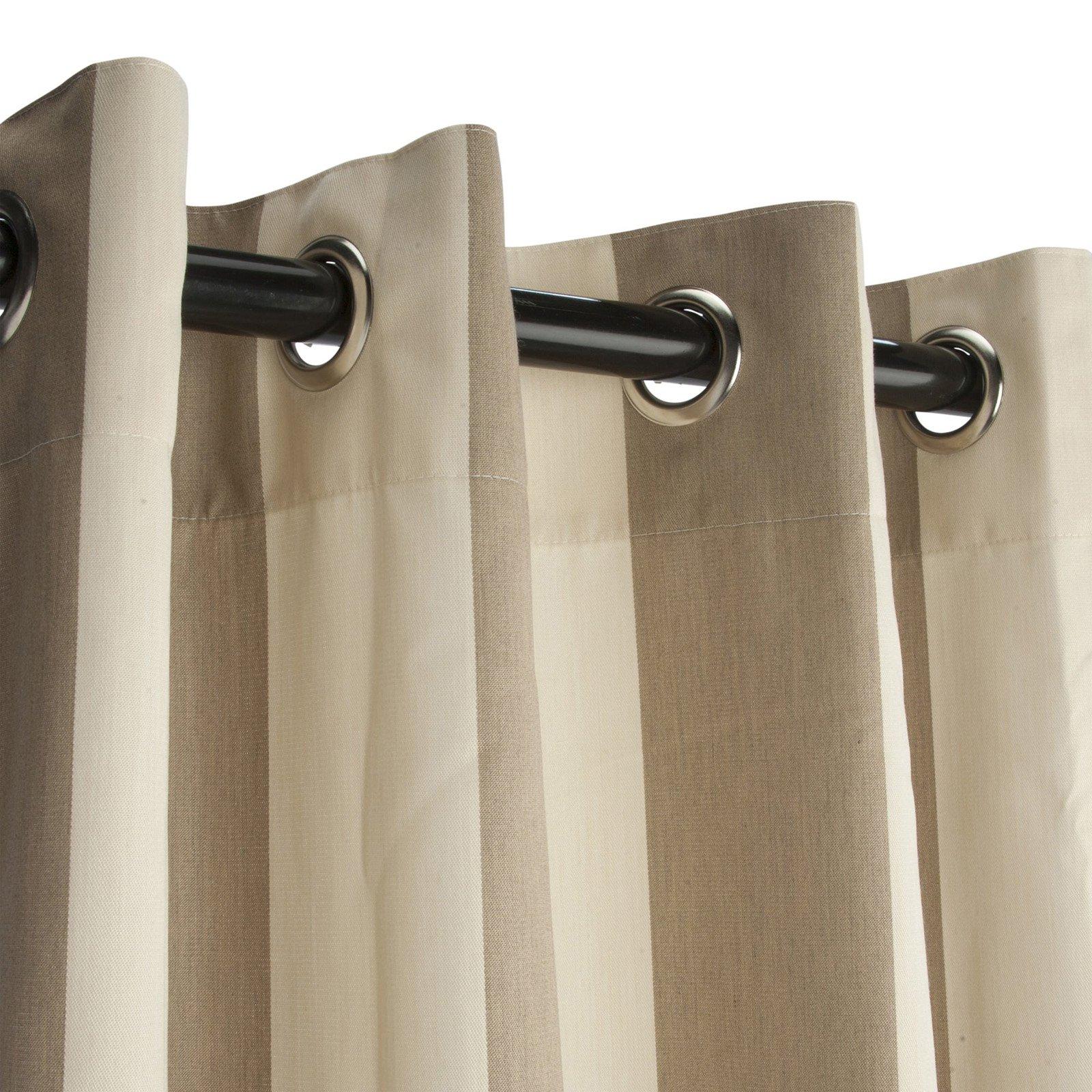 Pawleys Island Sunbrella Grommet Top Striped Outdoor Curtain